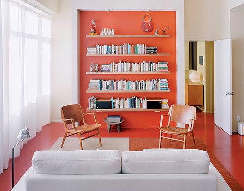 Color en el espacio temas de investigaci n a a pintar - Pared naranja combina con ...