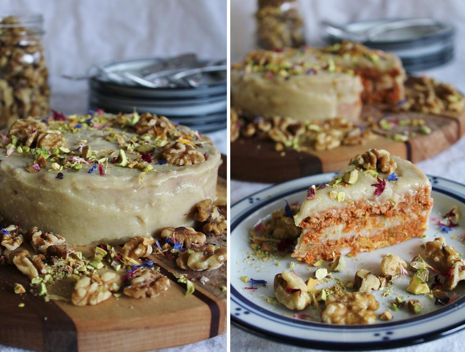 This Rawsome Vegan Life: raw carrot cake with cashew cream cheese ...