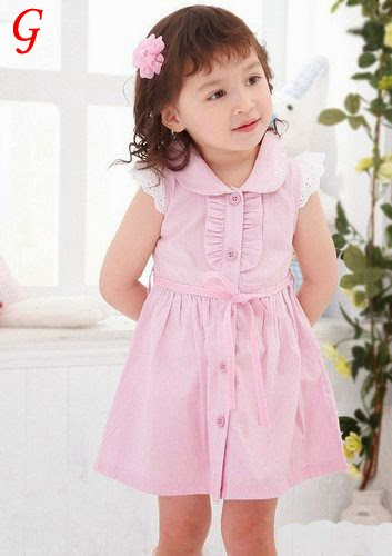 Cute Girls Pink-Frocks Images-Medium-Kids Pics