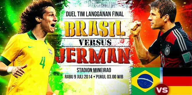 Preview Brasil VS Jerman Semi Final Piala Dunia 2014