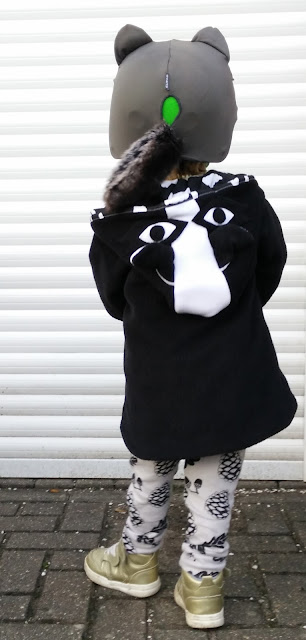 Lottie and Lysh Raccoon Coat Cool Custom Boys Coat Handmade