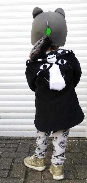 Lottie and Lysh Raccoon Coat Cool Custom Boys Coat Handmade