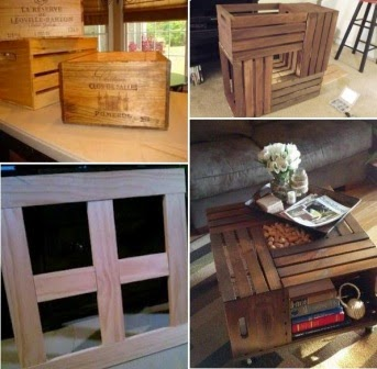 coffee table from a wine crate 2