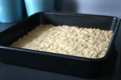 Shortbread in a square pan
