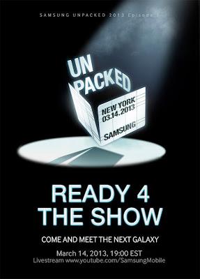 Samsung Galaxy SIV March Announcement, Unpacked