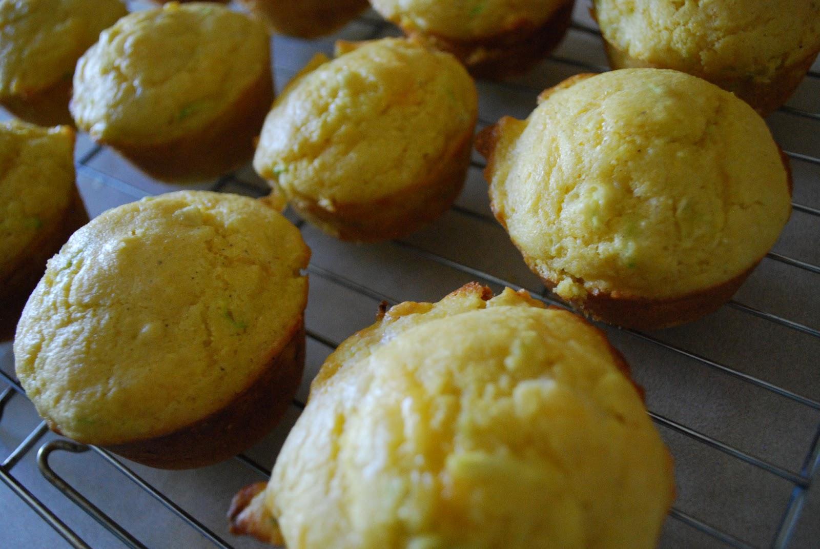 Pie Crust Cookies: Zucchini Cheddar Corn Muffins