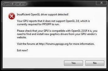 Masalah Yang Terjadi Pada Emulator PPSSPP