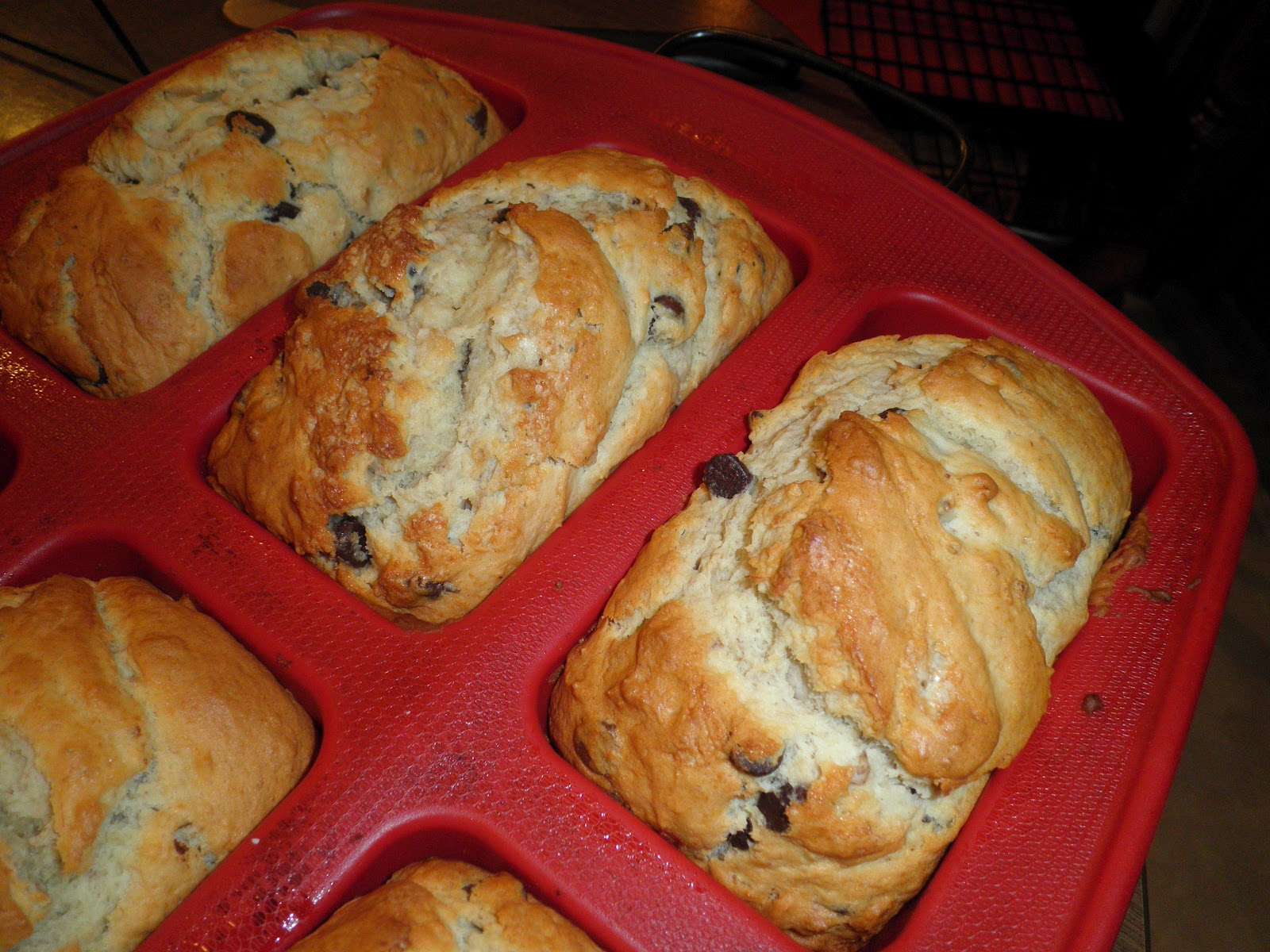 ... from the Cookie Princess: Chocolate Chip Bourbon-Spiked Banana Bread