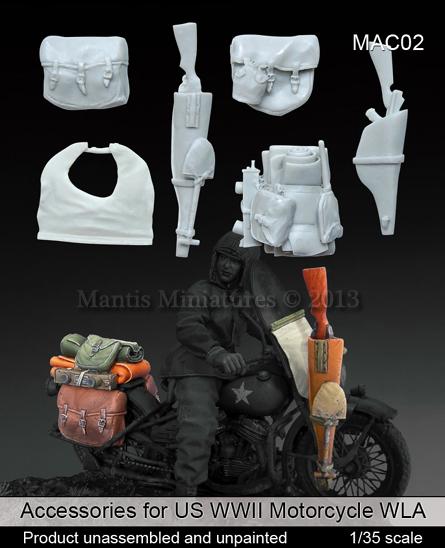 Nouveauté Mantas Figurines ... Mantis%2BMiniatures%2BAccessories%2Bfor%2BUS%2BWWII%2BMotorcycle%2BWLA%2B(28)