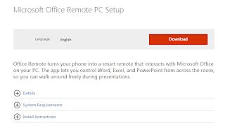 Cara Meremote Presentasi Power Point dengan Office Remote di Android