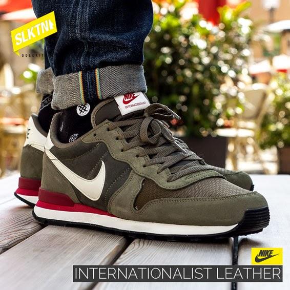 nike internationalist leather khaki