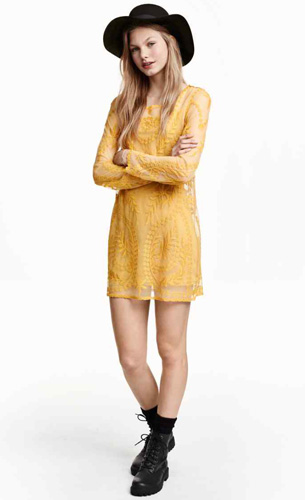 vestido corto H&M