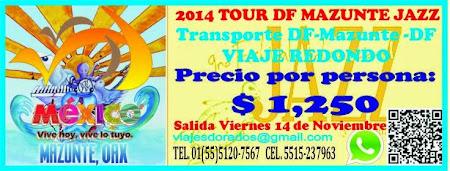 Solo Transporte al Festival de Jazz de Mazunte 2015