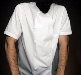 Ampliar imagen : Chaqueta de cocina de manga corta blanca - NORVIL
