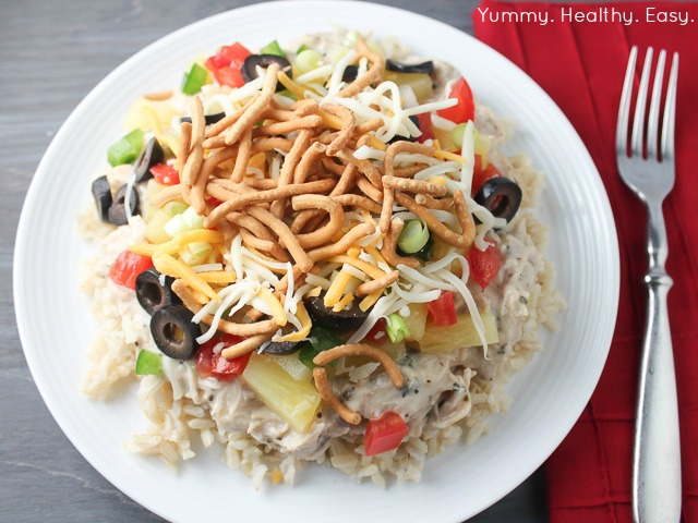 Hawaiian Haystacks are a quick, easy and healthy dinner idea. Only a few ingredients and fully customizable to what everyone likes!