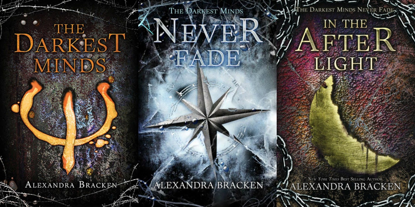 The Darkest Minds / Never Fade / In the Afterlight covers