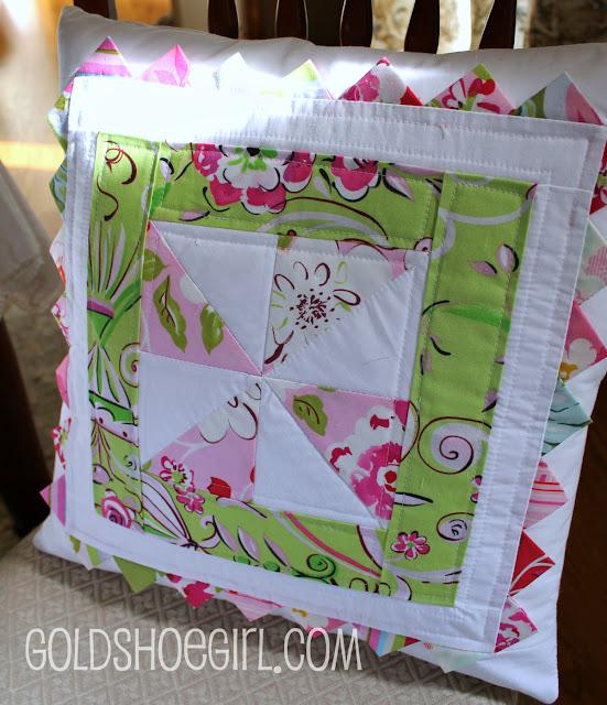 Gold shoe girl an unplanned pinwheel quilt for Dena designs tea garden