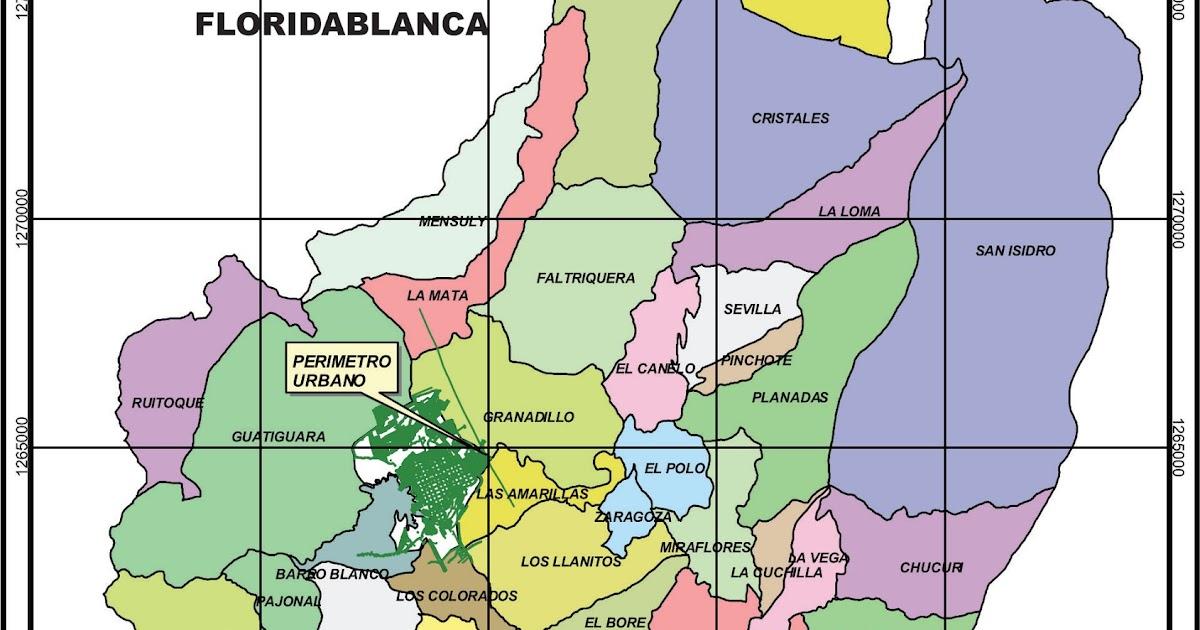 Alien web piedecuesta santander y sus limites mapa de for Banco santander mas cercano a mi ubicacion