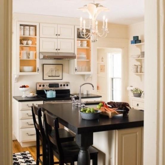 10 fotos de cocinas peque as colores en casa - Cocina cuadrada pequena ...
