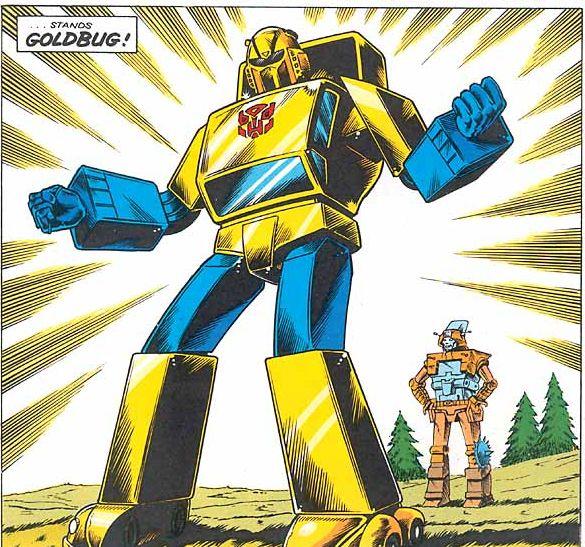 Afbeeldingsresultaat voor transformers comics goldbug