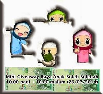 Mini Giveaway Raya Anak Soleh Solehah