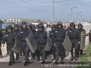 Бойцы выехали в Киев без огнестрельного оружия