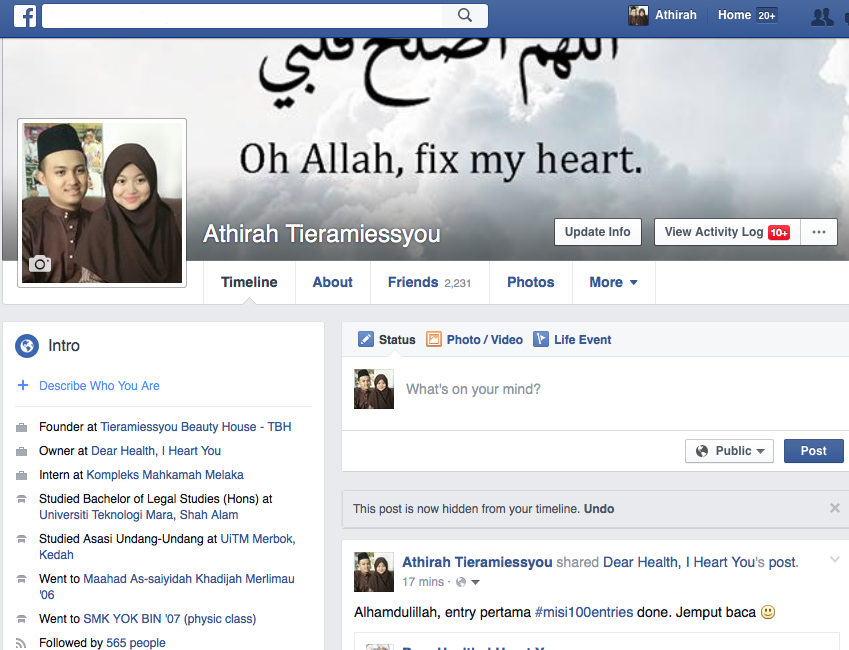 My Facebook. KLIK sini