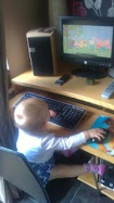 Grand Daughter at the Controls