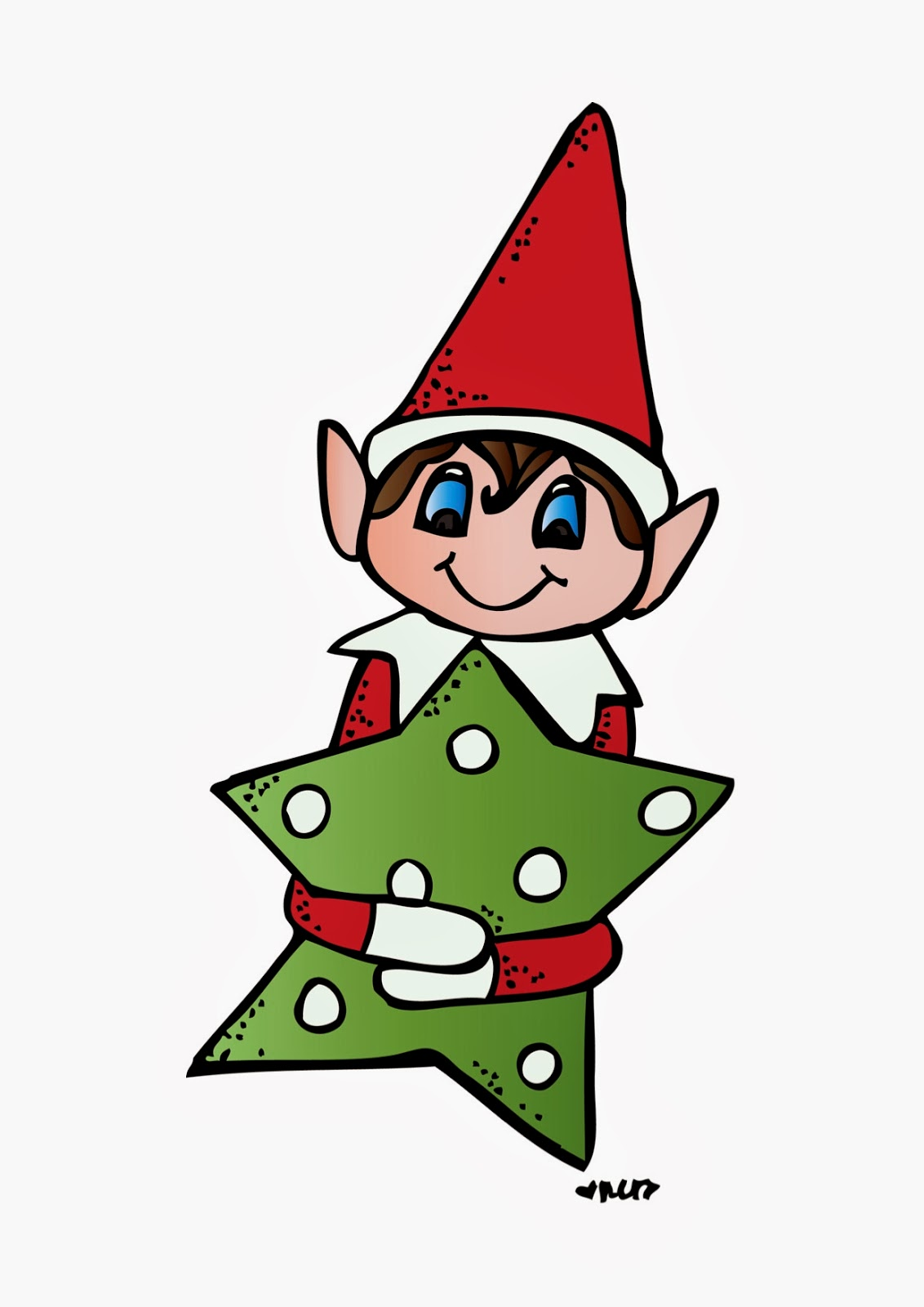 Cartoon Elves Clipart Elf on the shelf freebie