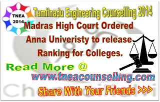 Madras High Court Ordered to anna univeristy to release collegewise ranking