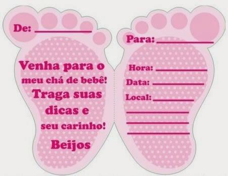 Convites para chá de bebê de menina 3