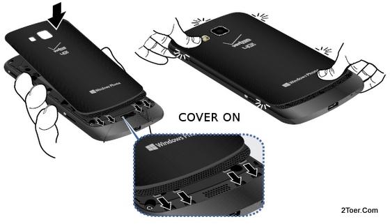 Attach Cover Back Samsung Ativ Odyssey SCH I930