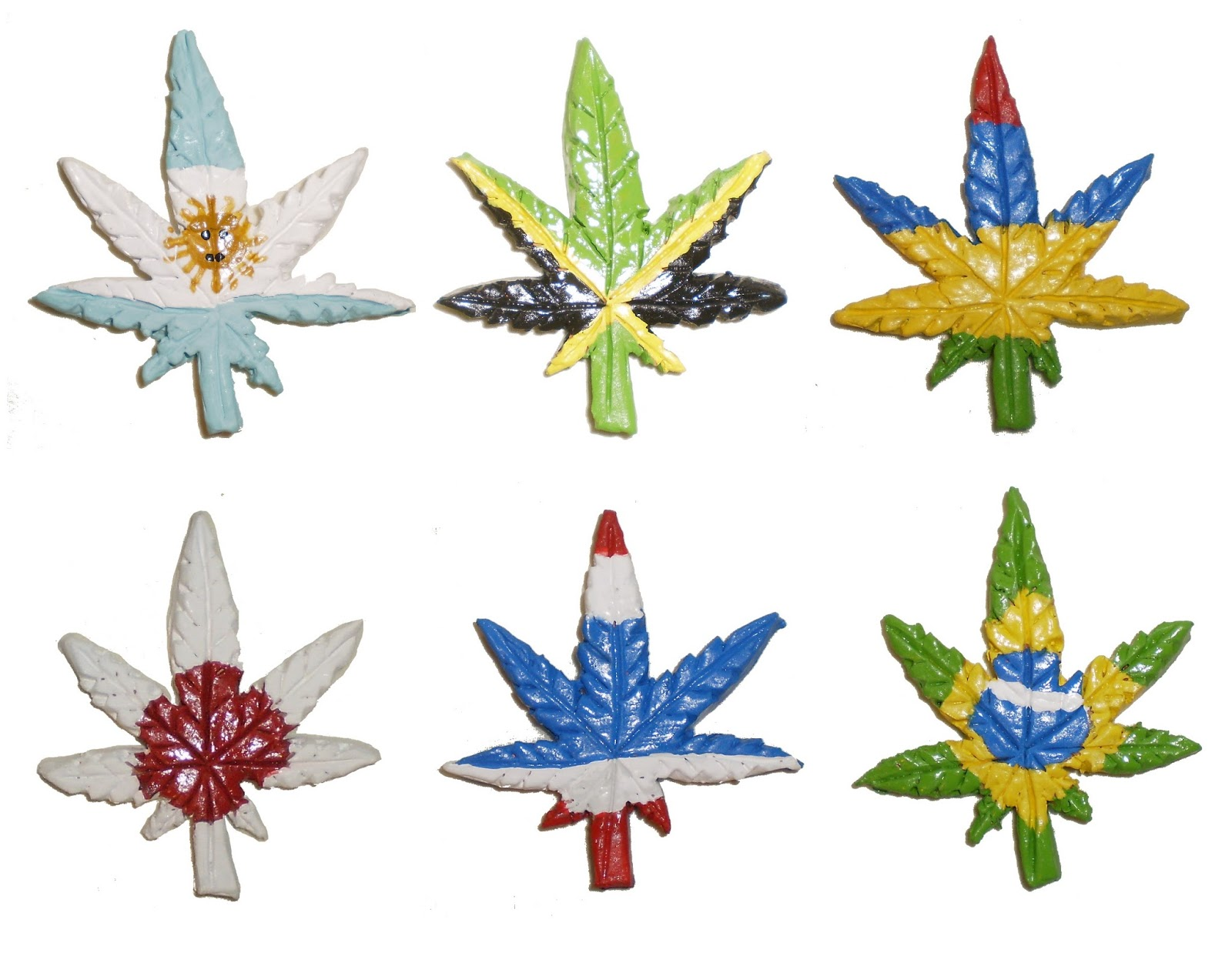 aberrant ceramics flags of the world cannabis leaves part 2