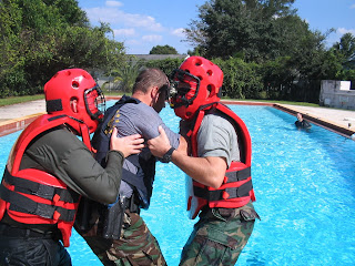 Correa learned water survival with the ERT.
