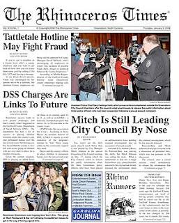 The Rhinoceros Times, The Rhino Times, The Rhino, newspaper, Greensboro, North Carolina, John Hammer, William Hammer