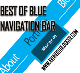 Best Of Blue Navigation Menu Bar Widget For Blogger