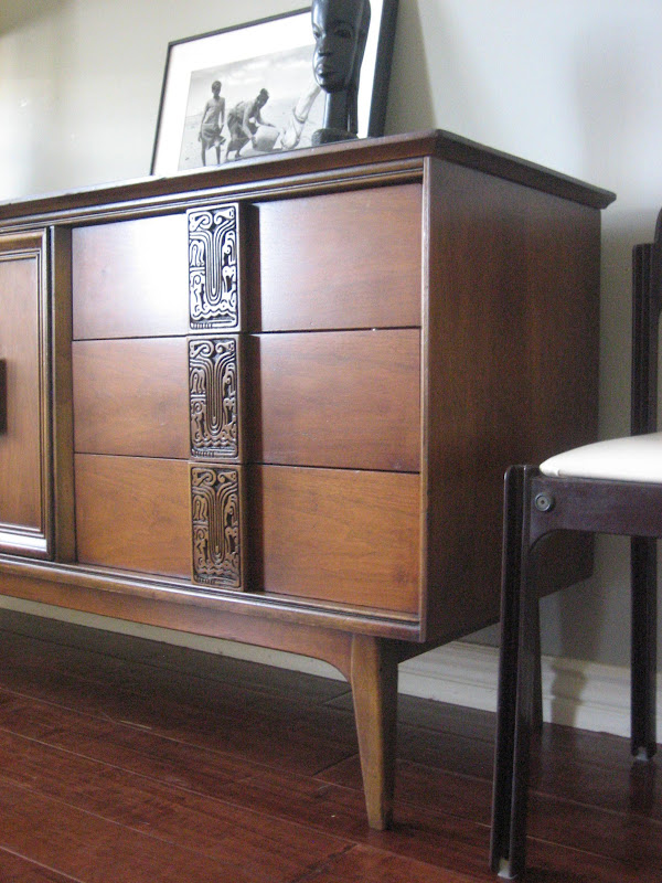 European Paint Finishes Mid Century Tribal Dresser And Nightstand