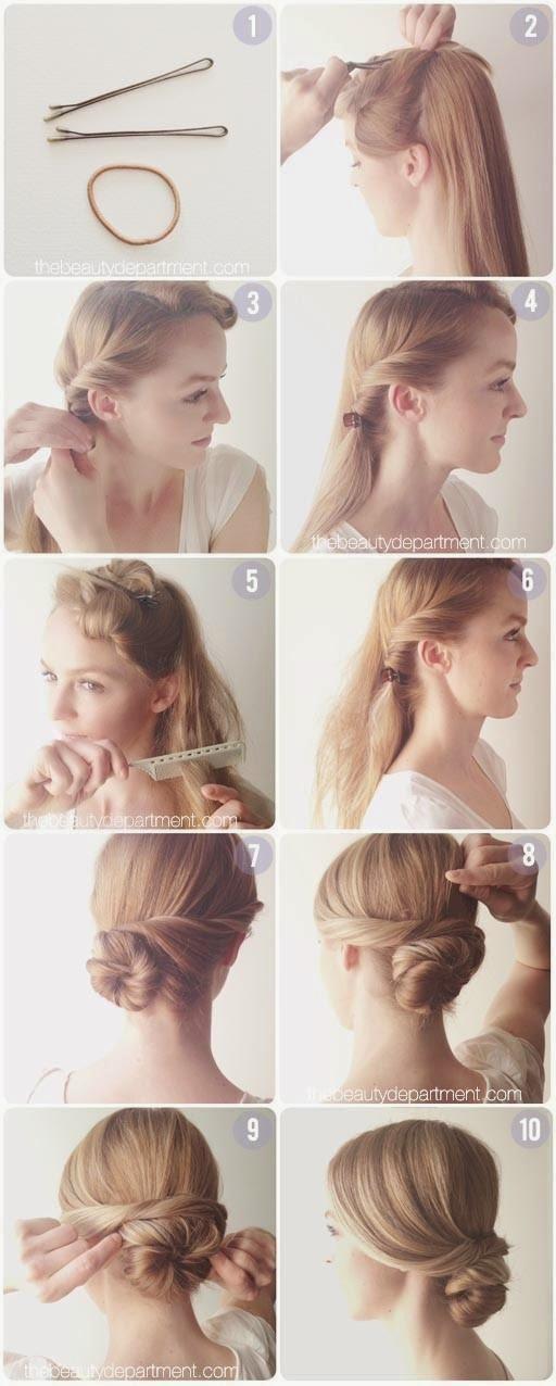 Как сделать прическу на средние волосы мк
