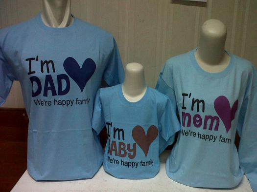 Baju Family t shirt ~ Kaos Couple Tshirt