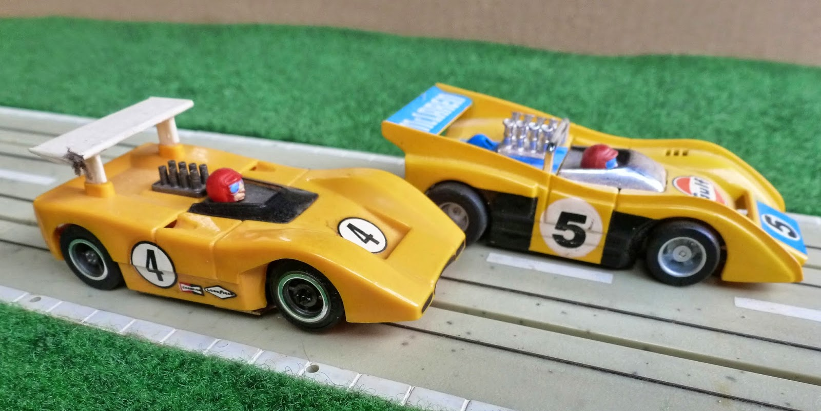 Tyco ho scale can am mclaren m8 slot cars