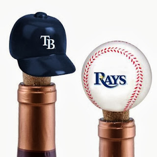 Tampa Bay Rays MLB Two Pack Wine Bottle Cork Set
