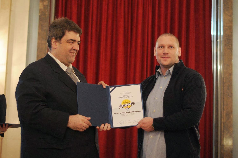Tihomir Stojanović dobija plaketu