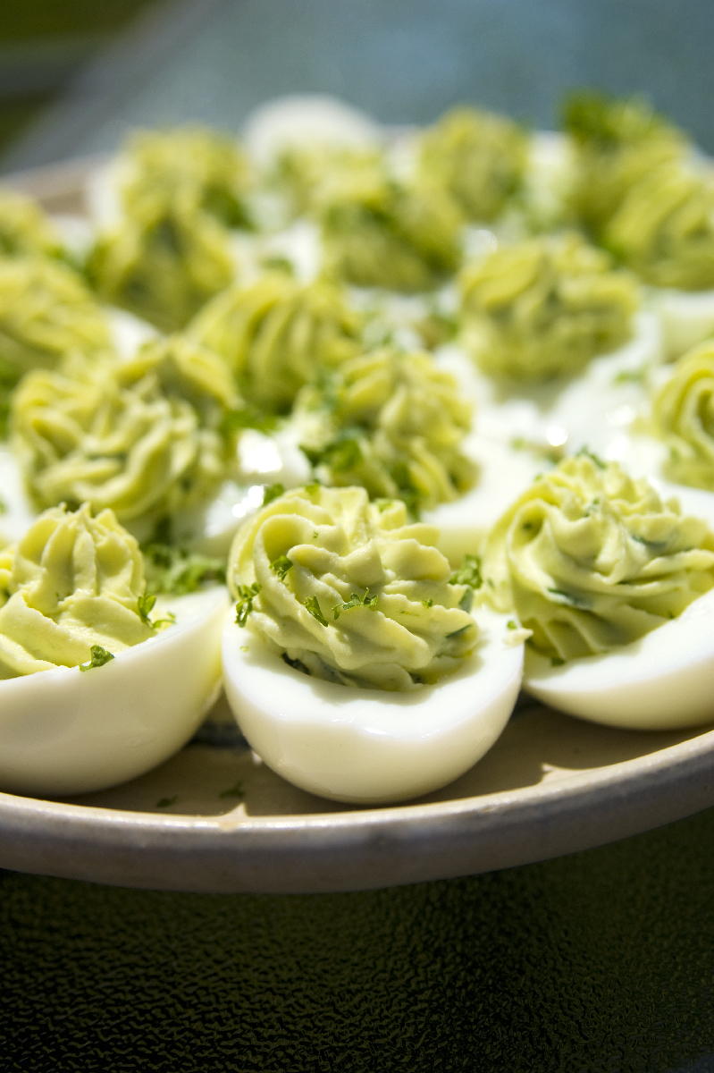Wasabi Deviled Eggs | 365 Days of Jode n Aid