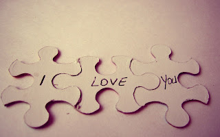 Puzzles Text I Love You Macro HD Wallpaper