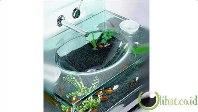 Aquarium wastafel