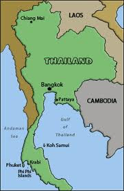 Best Holiday Destinations in Thailand 2012 Map