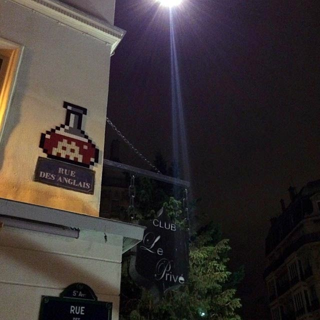 French Street Artist Invader just returned from his winter holidays in Anzere, Switzerland and started another round of invasion on the streets of Paris last night. 4