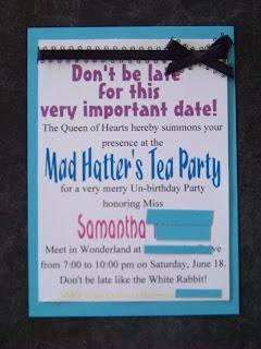 Wonderland Party Invites Everyday Parties