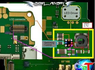 Nokia 2710 Display Lcd Light Probelm Solution Jumper