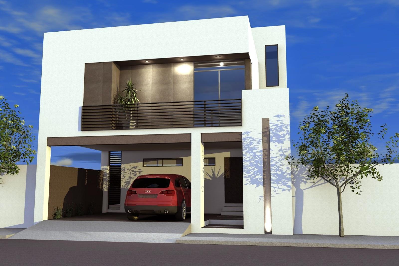 Fachada de casa moderna modelo m1